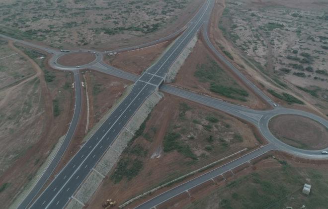 drone autoroute ila touba peage 001 echangeur sindia