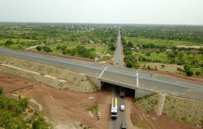 drone autoroute ila touba peage 10